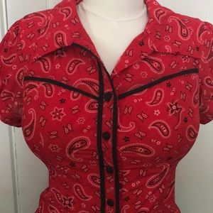 Rockabilly western repro blouse
